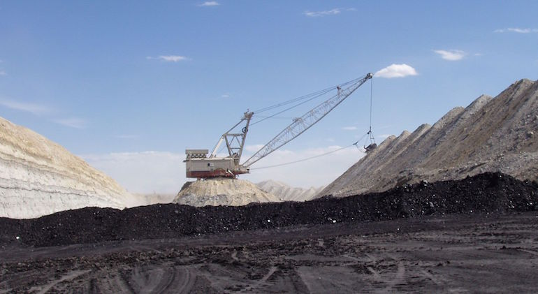 A dragline working in the Powder River Basin