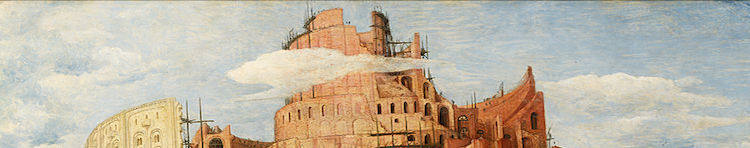 a cropped section of Pieter Bruegel the Elder's Tower of Babel